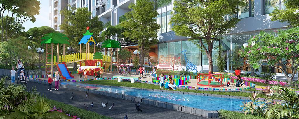 Khu vui chơi dự án chung cư Imperia Sky Garden 423 Minh Khai
