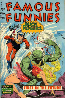 Famous Funnies v1 #210 Buck Rogers comic book cover art by Frank Frazetta