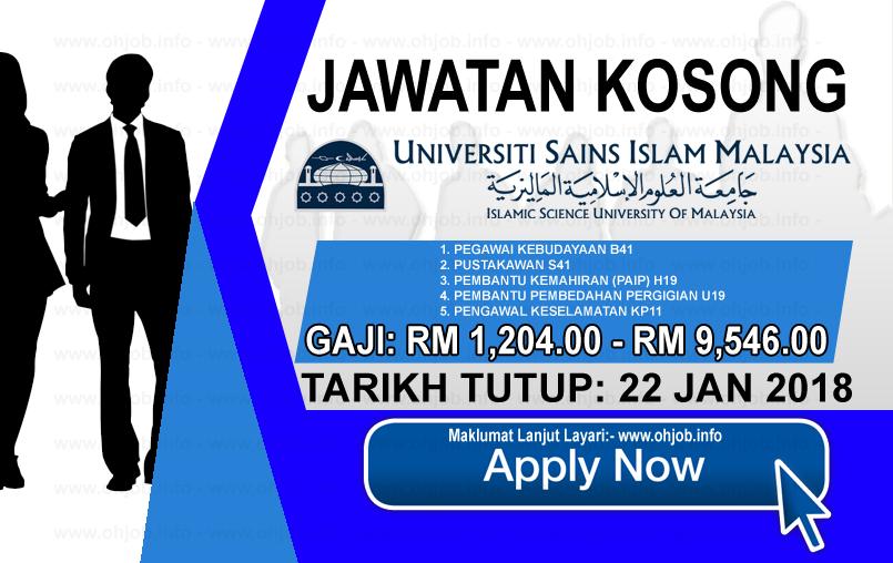 Jawatan Kerja Kosong Universiti Sains Islam Malaysia - USIM logo www.ohjob.info januari 2018