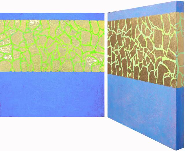 Blattgold und Acryl auf Leinwand XL, 50 x 50 cm, Dagmar  Mahlstedt