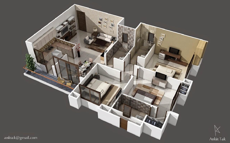 93+ Contoh Denah Rumah Ruang Tamu Terpisah Paling Baru