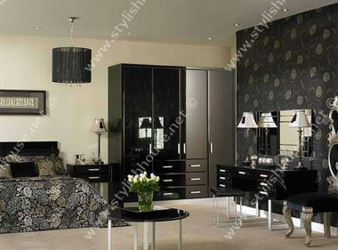 Deep colored design of modern bedroom furniture set
