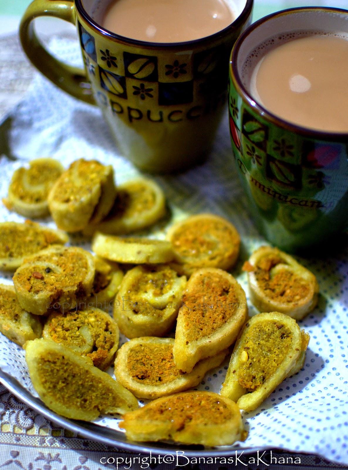 fara, goojha or peetha (steamed dumplings)