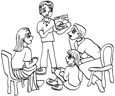 LDSFiles Clipart: Family Home Evening