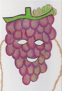 Páscoa máscara de uva