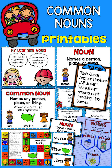 Common Nouns Printables  This Grammar Pack is packed with easy-prep, easy to use printables! You will find everything you need to engage and delight your students as they learn/review common nouns.