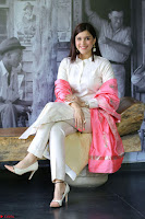 Mannara Chopra in Silky White Salwar Suit with Pink Chunni Latest Exclusive Pics March 2017 ~  013.JPG