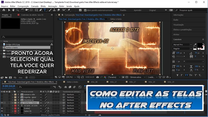Como editar as Telas Finais no after effects