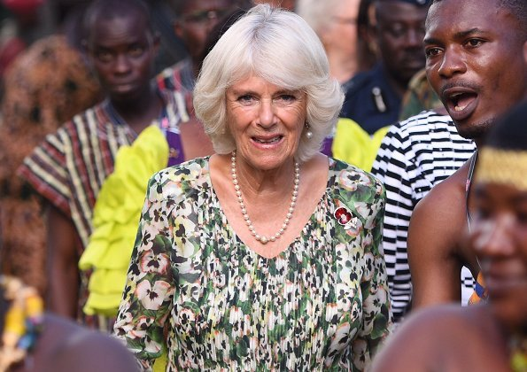 he Duchess of Cornwall also visited the National Cultural Centre in Kumasi