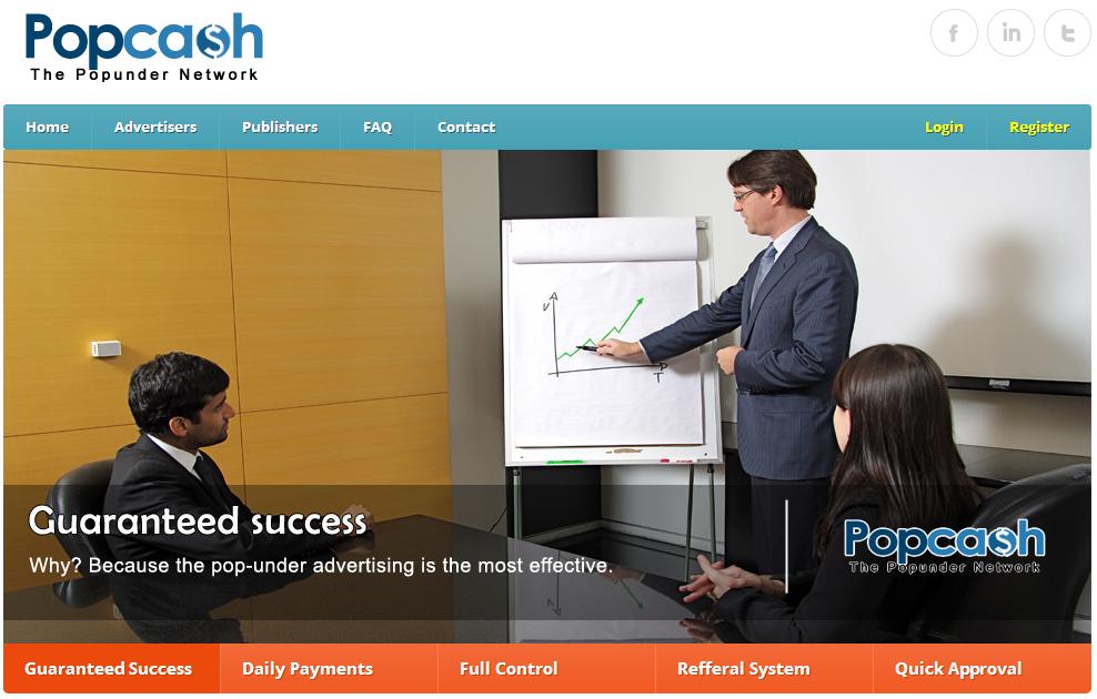 Homepage Popcash