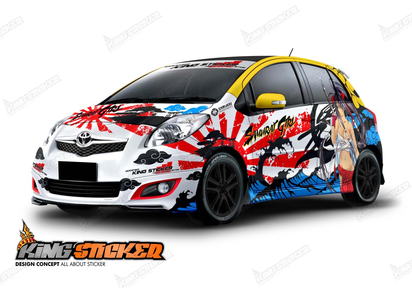 CUTTING STICKER TOYOTA YARIS | King Sticker bali