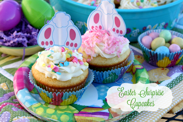 ... - Recipes From my Texas Kitchen: Easter Bunny Surprise Cupcakes