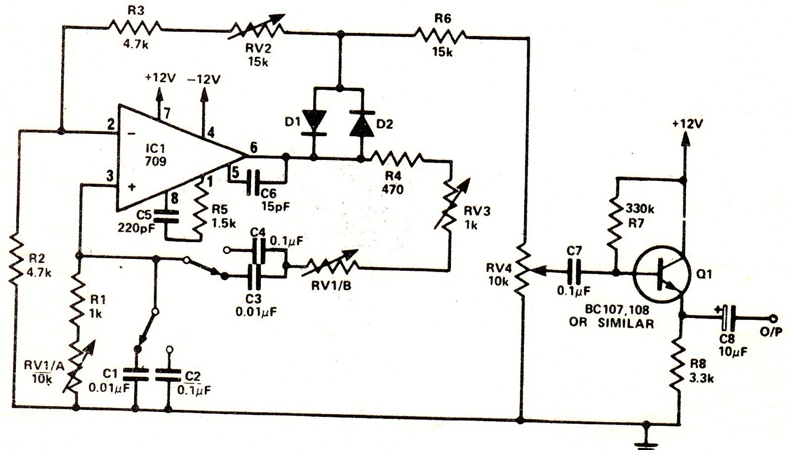 Sine Wave Oscillator Circuit