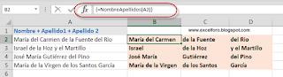 VBA: Descomponer Nombres y Apellidos compuestos