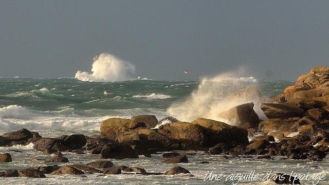 le phare du Four sous les vagues