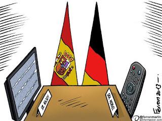 Viñeta de humor Cumbre hispanoalemana