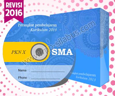 Jual RPP PKN SMA Kelas X Kurikulum 2013 Revisi 2016