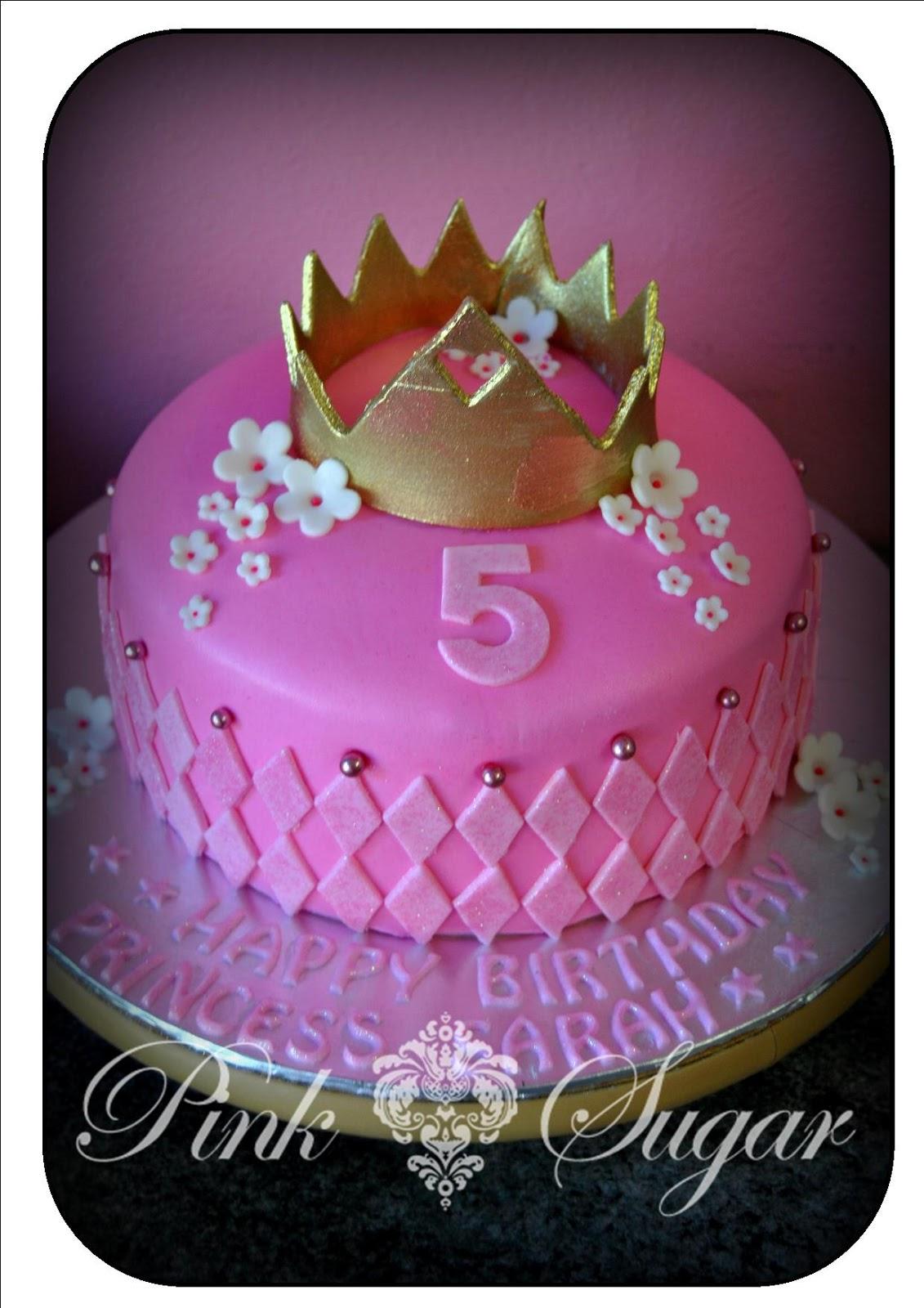 Pink Sugar Princess Crown Cake Biscuits Amp Fairy Princess