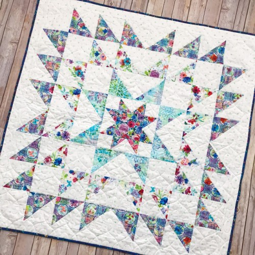 Blue Carolina Starburst Quilt - Free Pattern