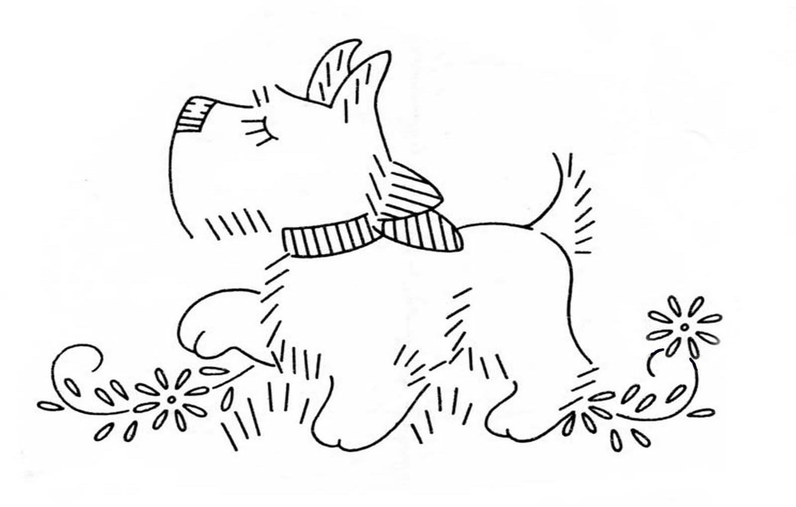 THETINCAT: Scottie dog embroidery Patterns