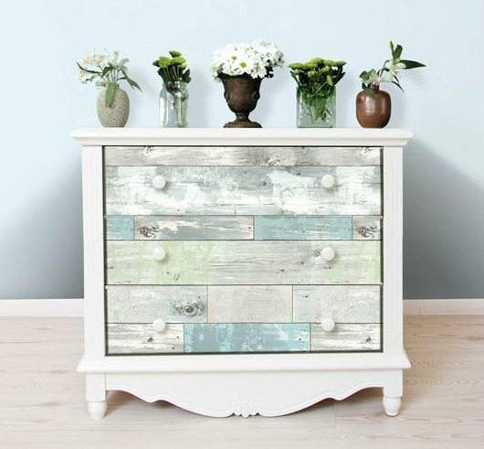 How to Use Wallpaper on Furniture | Example Dresser or Chest