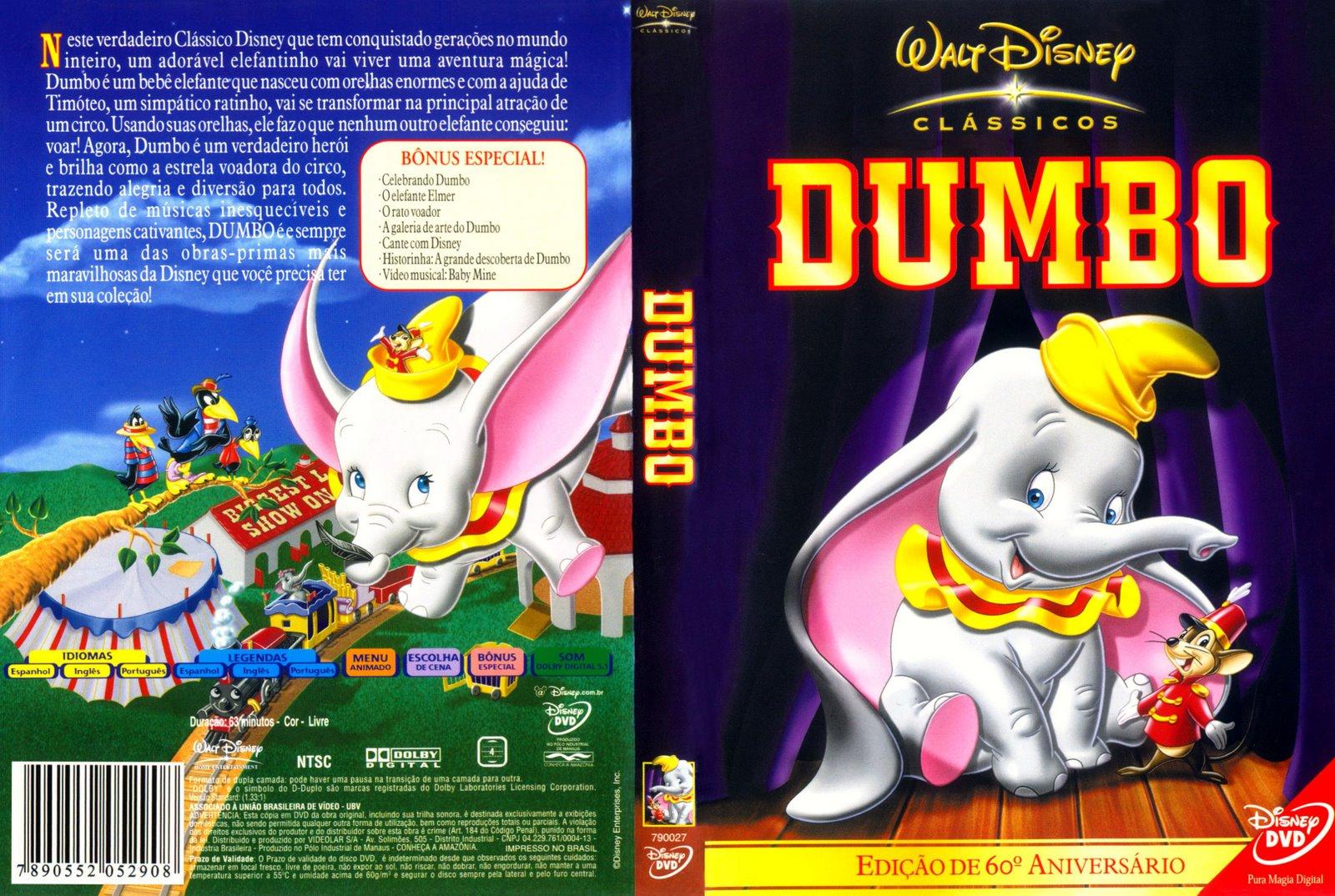 Capas Medina  Somente Capas de DVD Dumbo