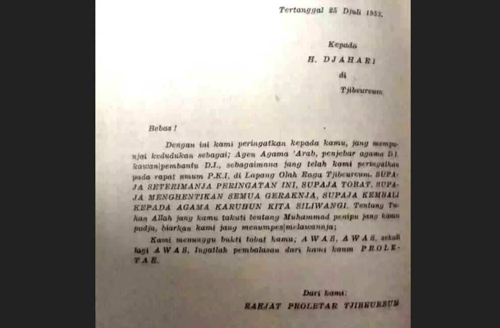 Surat ancaman PKI