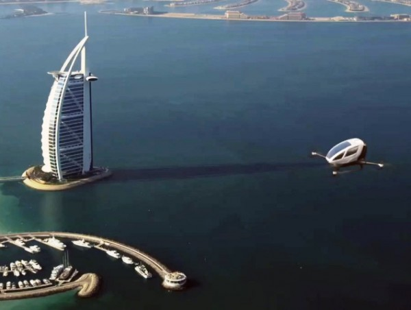Dubai: The future has arrived! Flying taxi in the city! [Video]