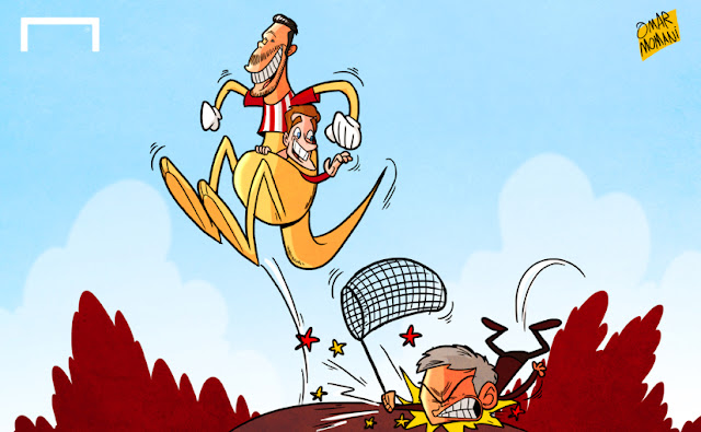 Kangaroo Simeone and Griezmann cartoon
