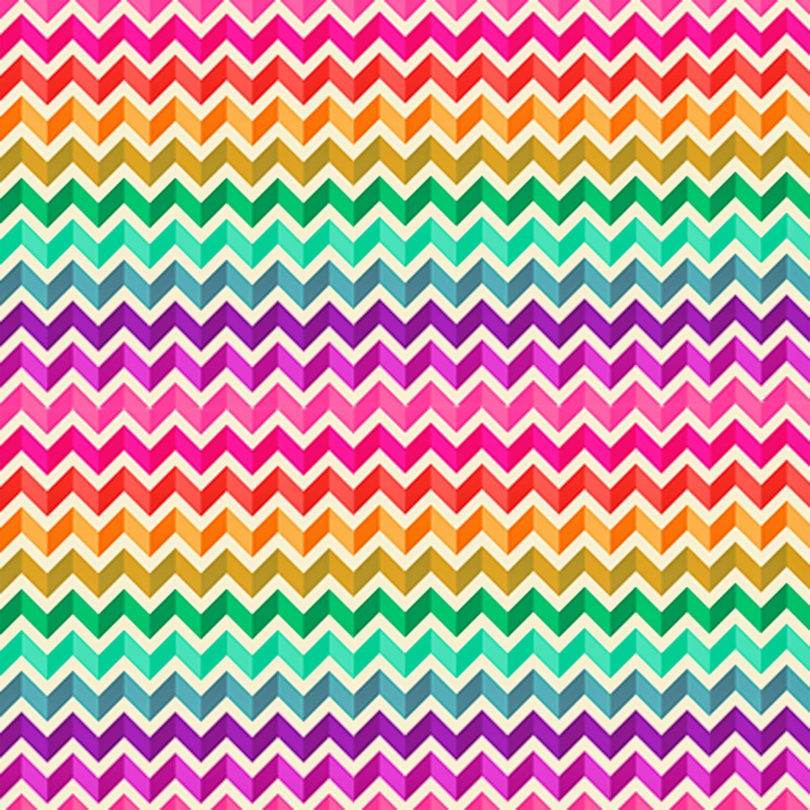8 Colorful Block Chevron Freebie Printable Patterns