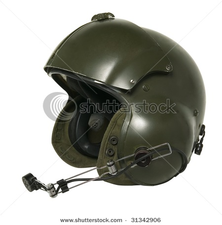 Helicopter pilot helmet ~ Vehicles Wall