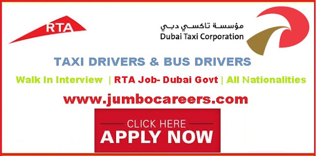 | Dubai RTA Jobs in Emirates Taxi | Emirates Taxi Careers for drivers, Dubai RTA Driver jobs salary. Dubai RTA Bus driver jobs.
