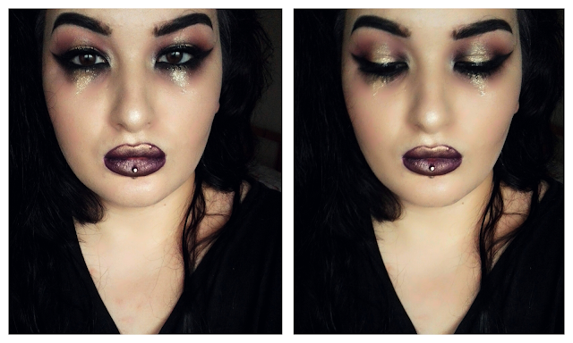 Purple Glitter Tears Maquillage