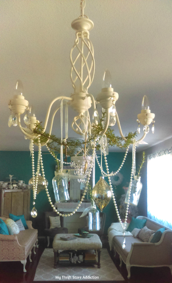 holiday chandelier swag