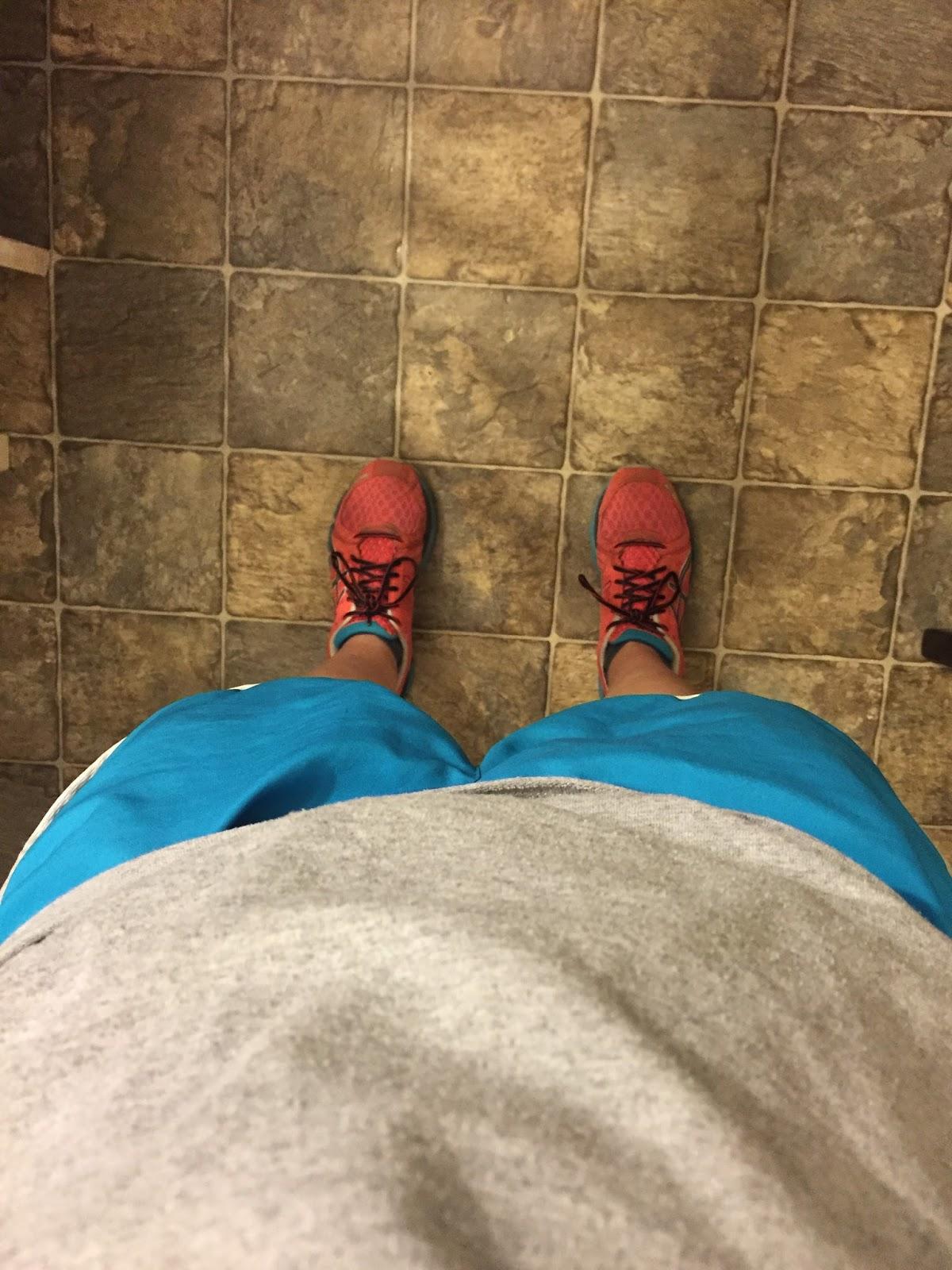 Treadmill running watching House