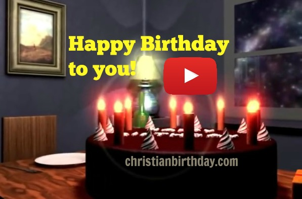 A nice birthday video, short song Happy Birthday, cake and candles, nice quotes on birthday