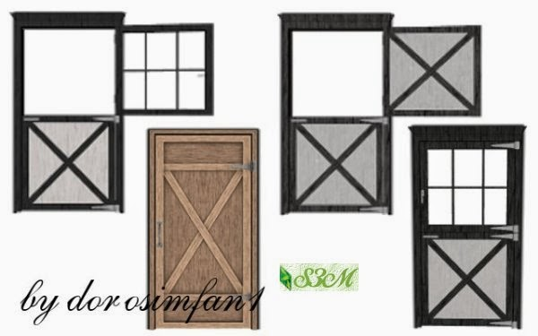 Sims Horses Stable Door By Dorsimfan1