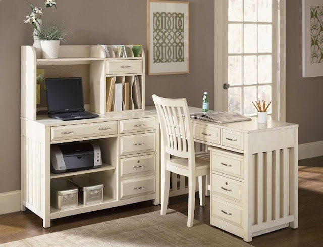 white wood home office desk and storage for sale online