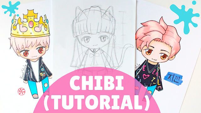 Koori Style, KooriStyle, Drawing, BTS, Chibi, Dibujo, Tips, Consejos, Advice, Avisos, Cute ,Kawaii, Fanart, Tutorial, Jimin, Taehyung, V, Suga, How to draw, drawing lesson, como dibujar, clase dibujo