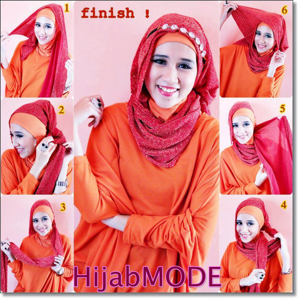 23 Foto Tutorial Hijab Pashmina Headband Paling Update Tutorial
