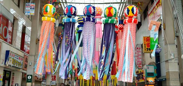 fukinagashi amuletos tanabata