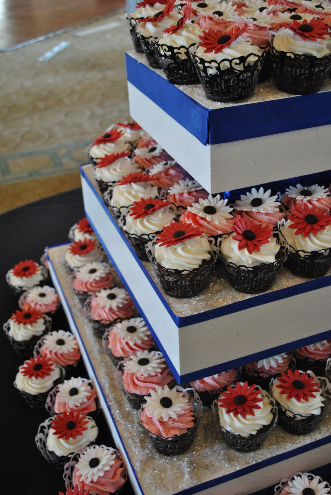 White Black And Red Wedding Cupcakes By The Cake Zone