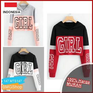 MTS147 Sweater Hodie Wanita Kombinasi Girl BMGShop
