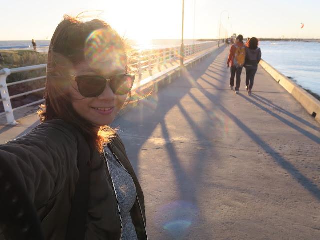 selfie, St Kilda's beach, Melbourne