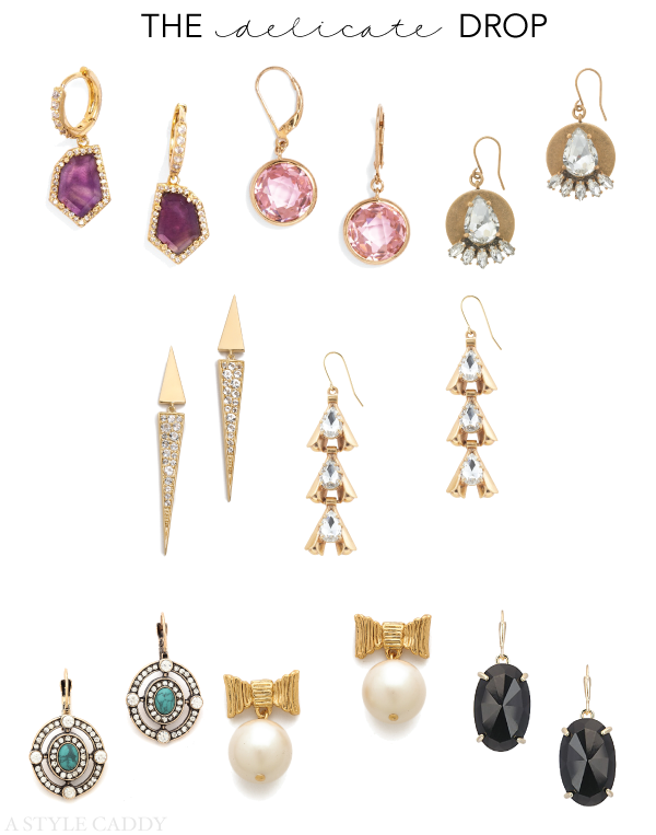 Delicate Drop Earrings // A Style Caddy