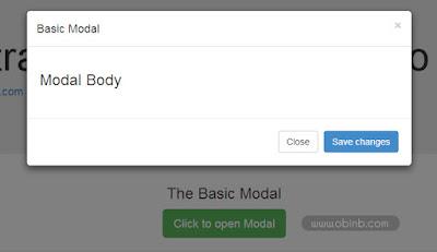 Tạo popup dễ dàng trong Bootstrap với Bootstrap Modal Plugin