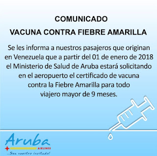 Viajeros venezolanos tendrán un nuevo requisito para entrar a Aruba. Nuevo comunicado para los viajeros venezolanos para Aruba. Nuevo requisito para los venezolanos para entrar a Aruba