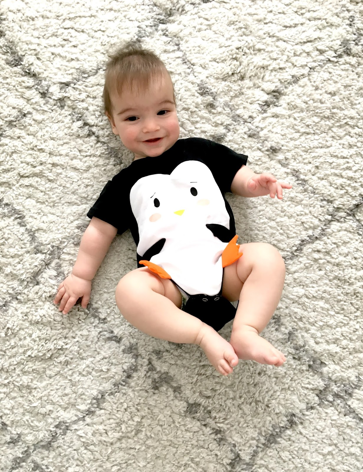 cute penguin baby bodysuit