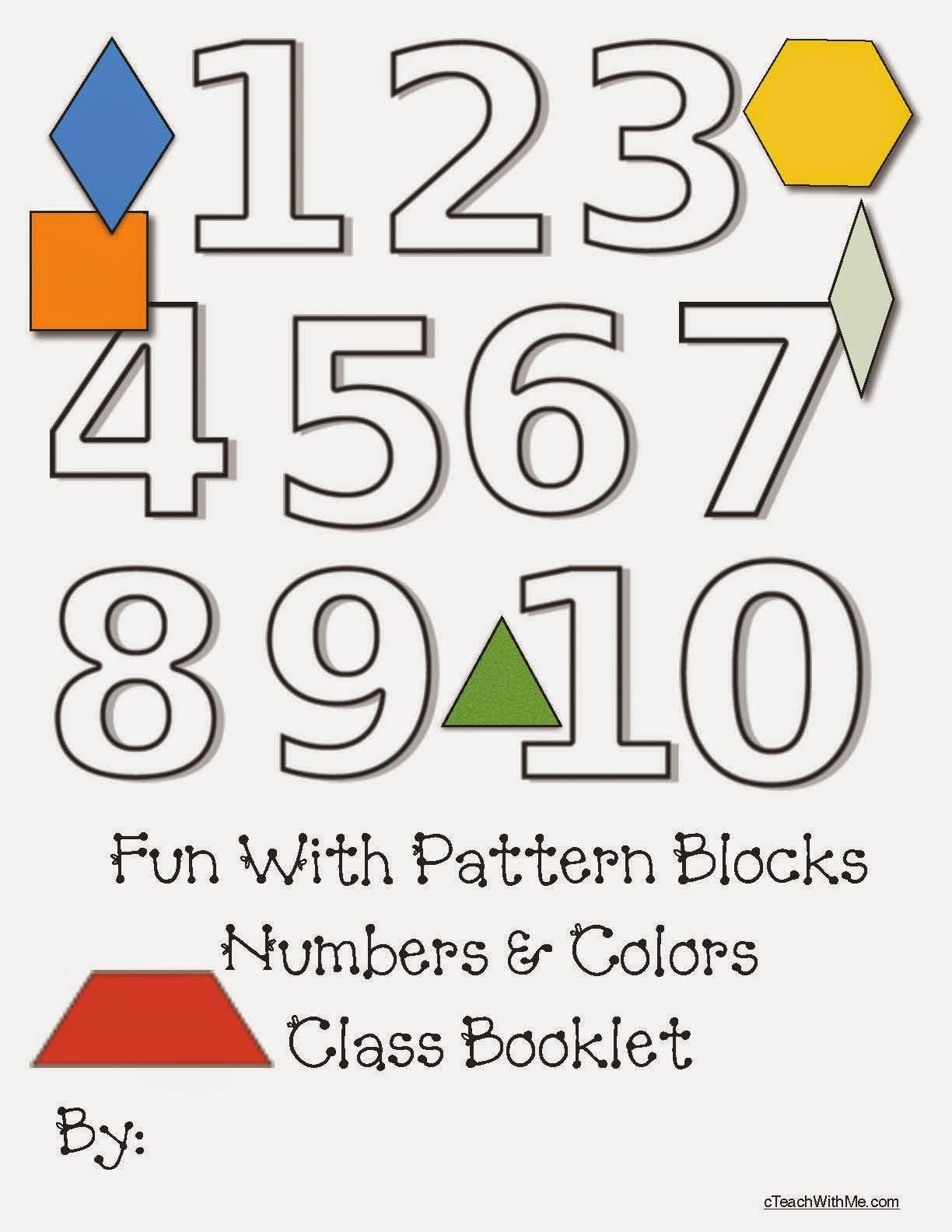 Classroom Freebies Pattern Block Number Booklet