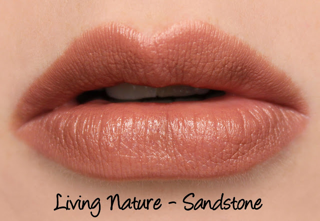 Living Nature Lipstick - Sandstone Swatches & Review